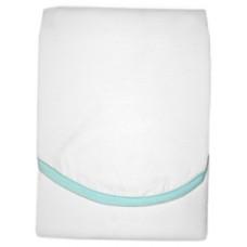 PANDA-BOO Успокаивающая пелёнка-конверт, улучшающая сон/ Х/б 100%/ WHITE/LT GREEN