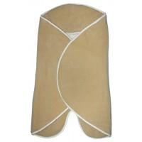 PANDA-BOO Пеленальное одеяло-конверт (0-4 мес.)/ Флис 100%/ SAND/IVORY